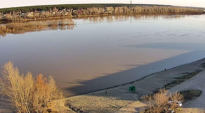 Река Бия в Бийске