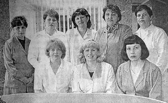 Коллектив лаборатории на ОАО «Бийский элеватор»